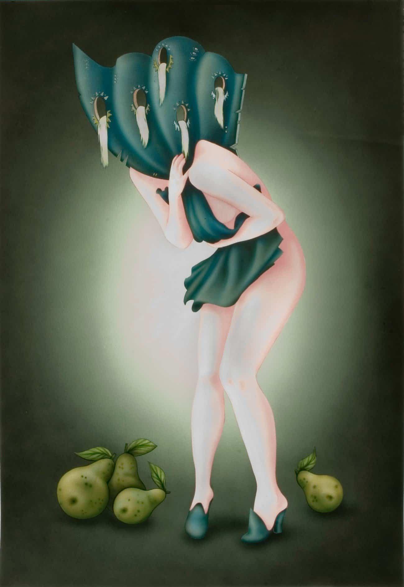 Hippolyte Hentgen, Merry Melody, 2011, 160x120 cm, encre et acrylique sur papier Arches