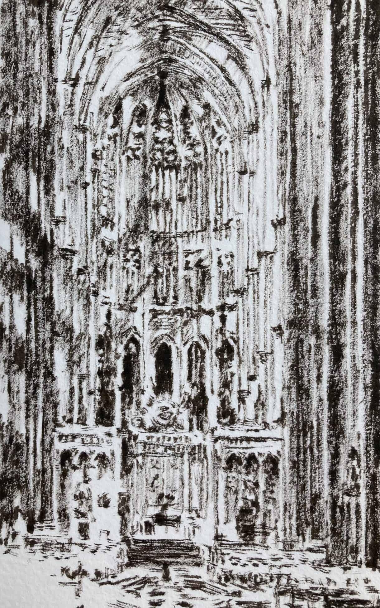croquis cathédrale d'Amiens