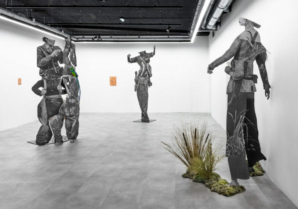 Vue de l'exposition Tierradentro, Daniel Otero Torres © Olivier Lechat, Drawing Lab